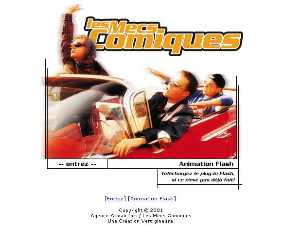 Les Mecs Comiques / Site Internet 2001