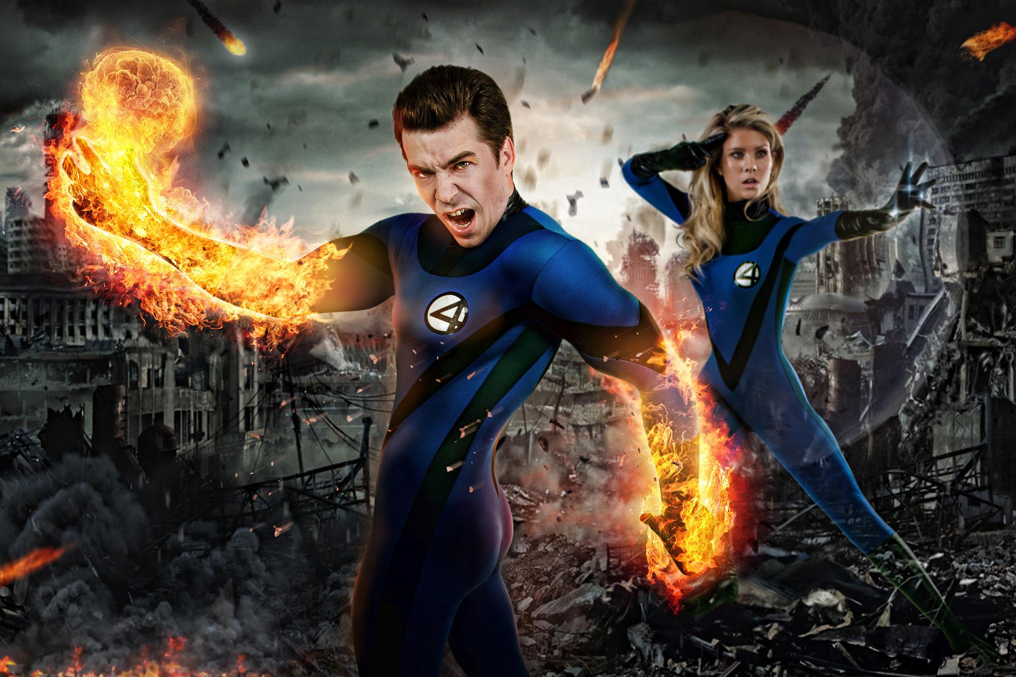 Tommy et Jessica en Fantastic 4