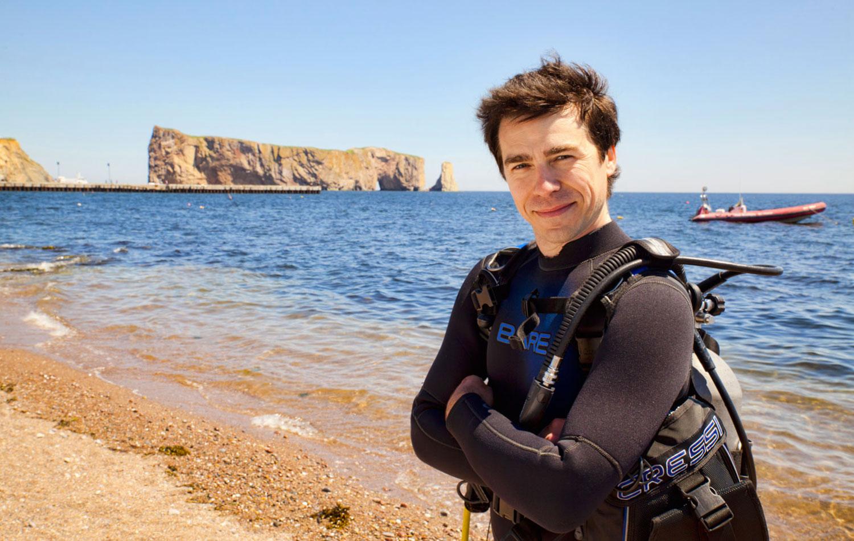 Rocher Percé plongée sous-marine