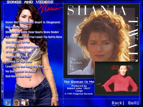 Shania CD-XTRA