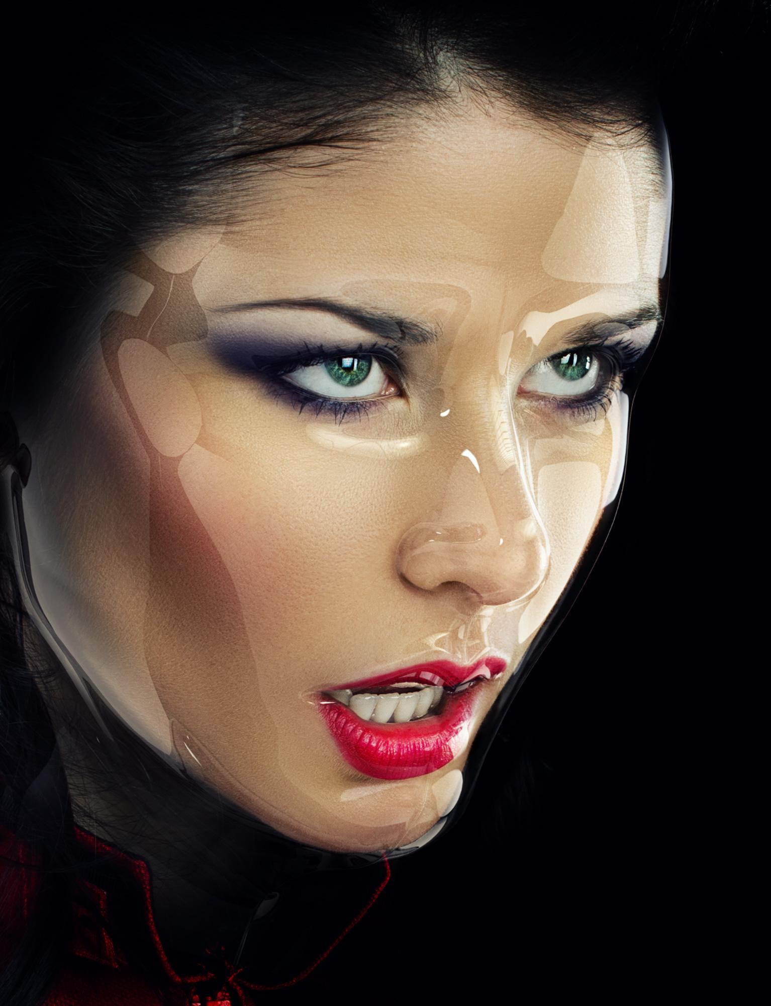 Fashion glamour mask 3D makeup
