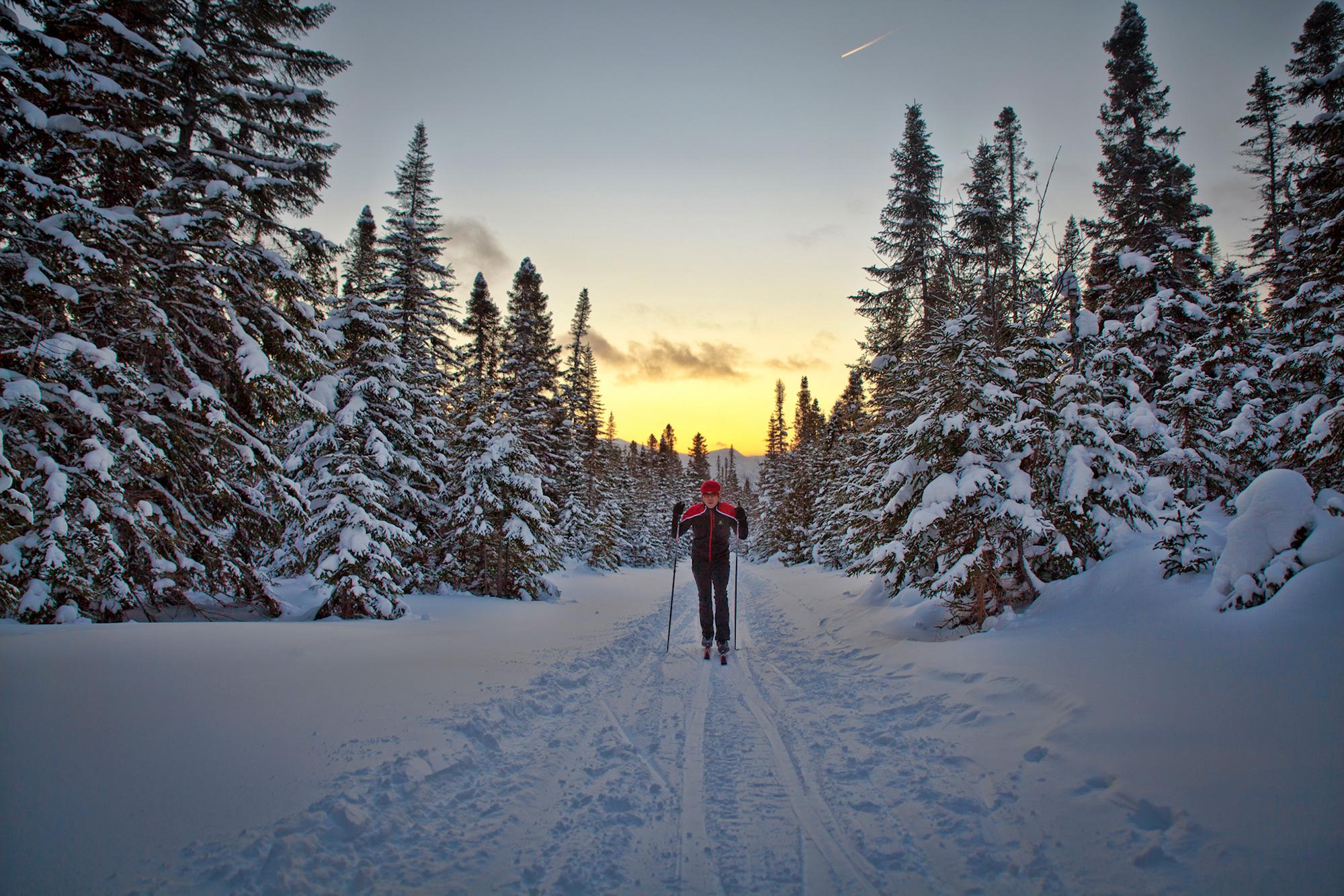 Ski de fond dans le parc national de la Gaspésie