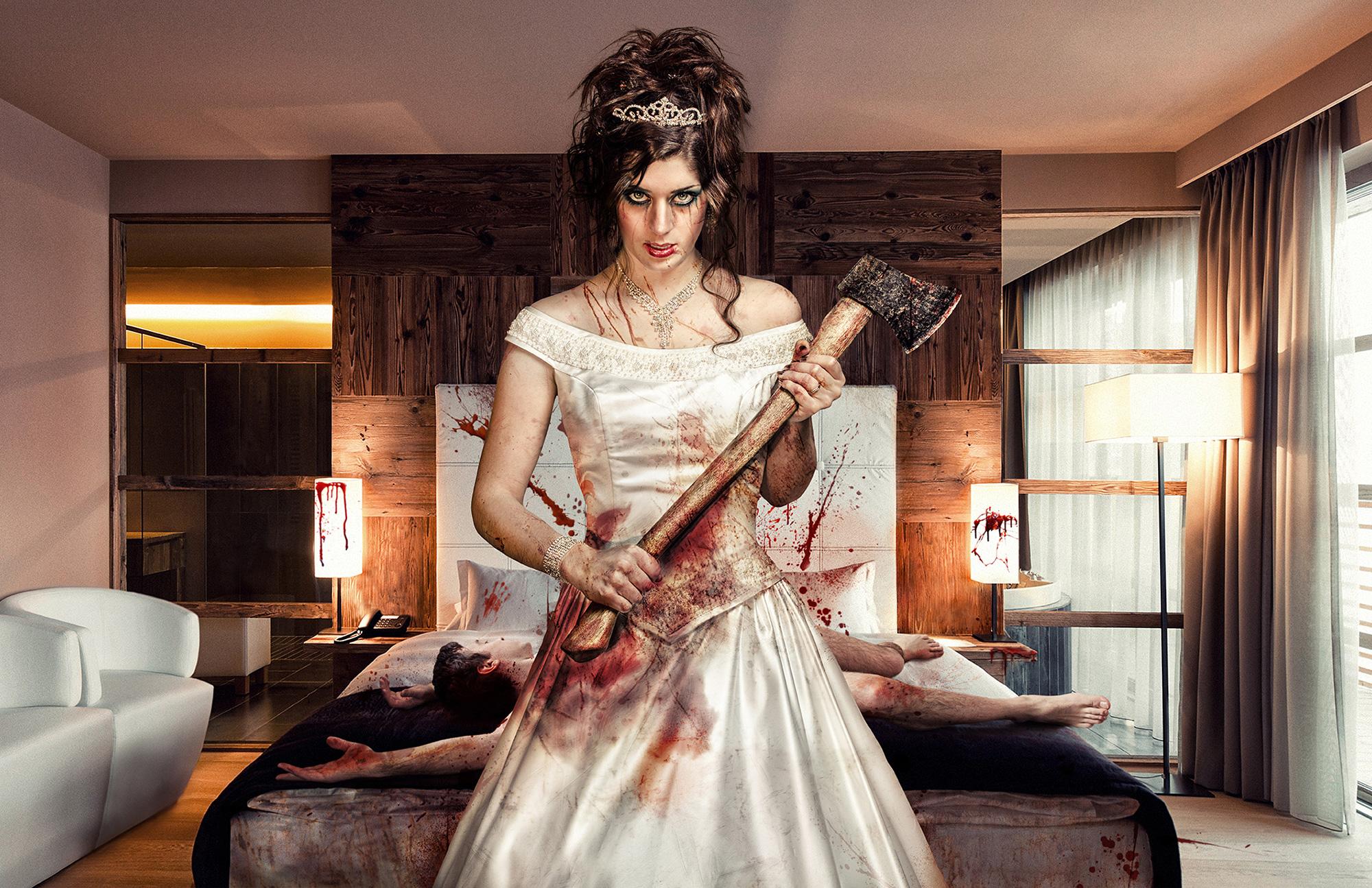 honeymoon nuit de noce mariée bride devil murder