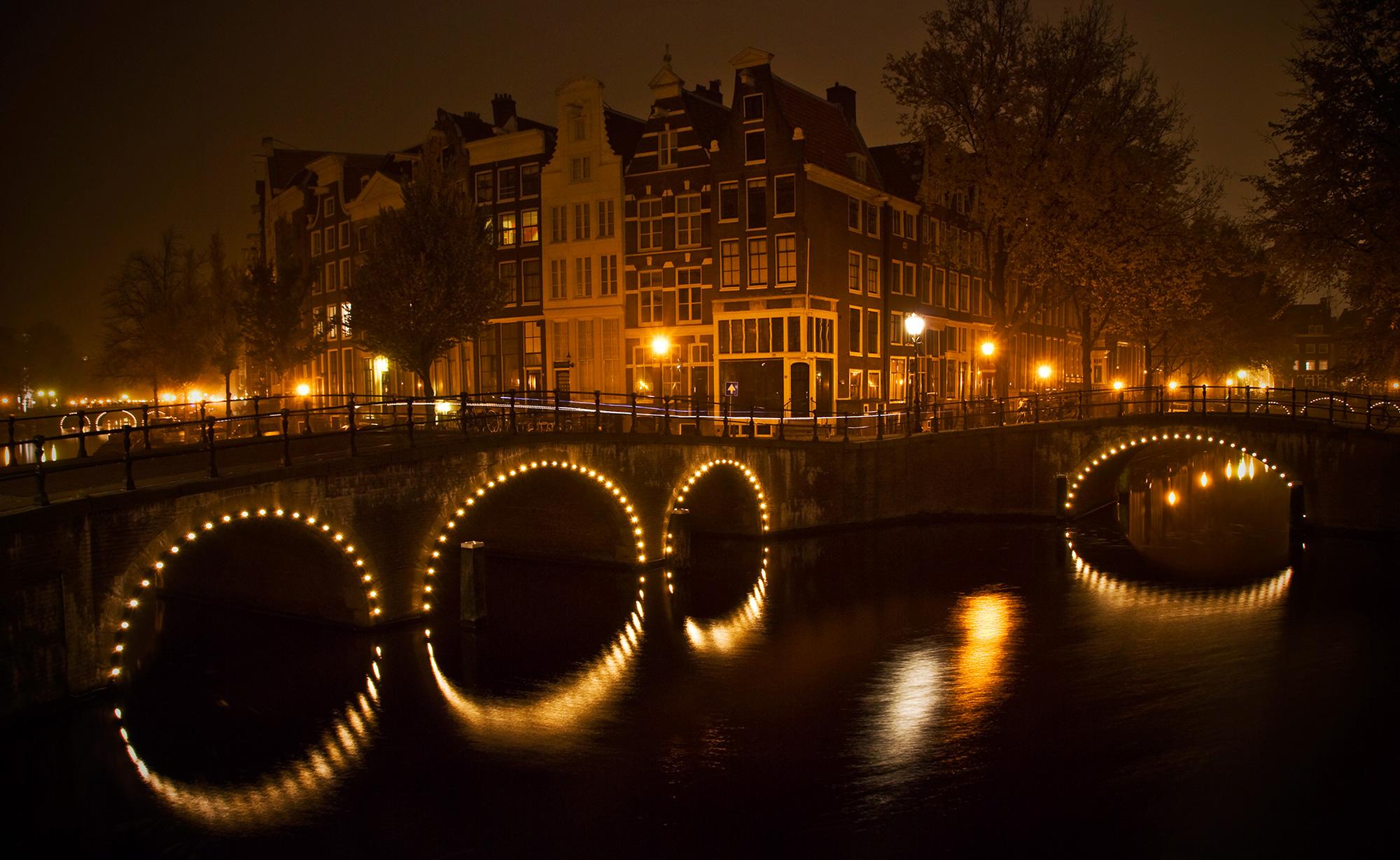 Amsterdam pont bridge night
