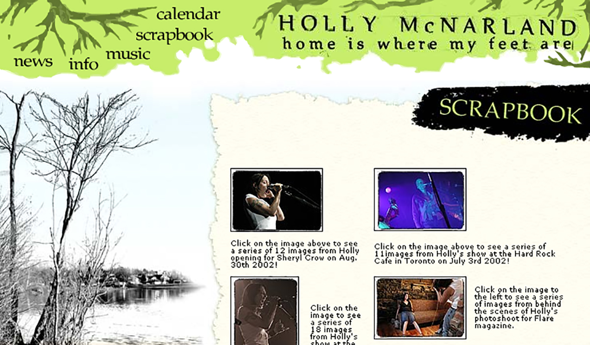 Site de Holly