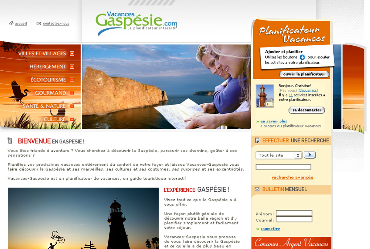 Vacances Gaspésie