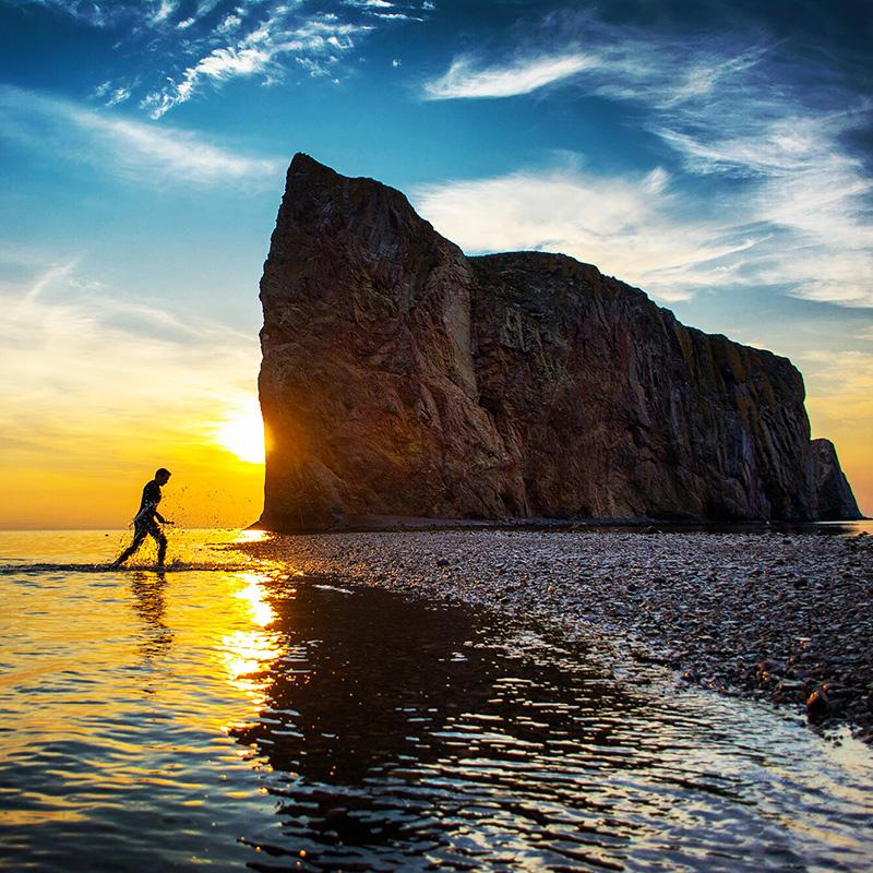 sunrise rocher percé gaspésie