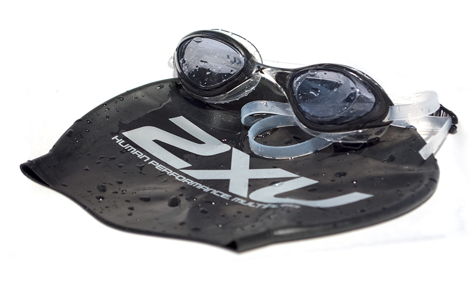 swimming cap 2xu googles